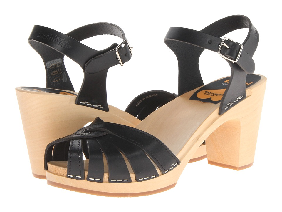 Swedish Hasbeens Fredrica Black High Heels