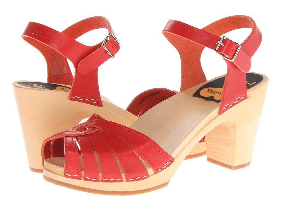 Swedish Hasbeens Fredrica Red High Heels