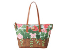 Dooney & Bourke Geranium Basket Zip Top Shopper