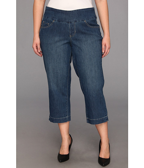 Jag Jeans Plus Size - Plus Size Felicia Pull-On Classic Crop in Blue Dive (Blue Dive) - Apparel