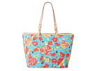 Dooney & Bourke Coated Cotton Rose Garden Leisure Shopper