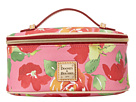 Dooney & Bourke Coated Cotton Rose Garden Zip Around Cosmetic Case