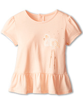 Chloe Kids - Puff Sleeve Printed Ruffle Bottom T-Shirt (Infant)