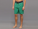 Sperry Top-Sider - Sailor Stripe Boardshort (Grass) - Apparel