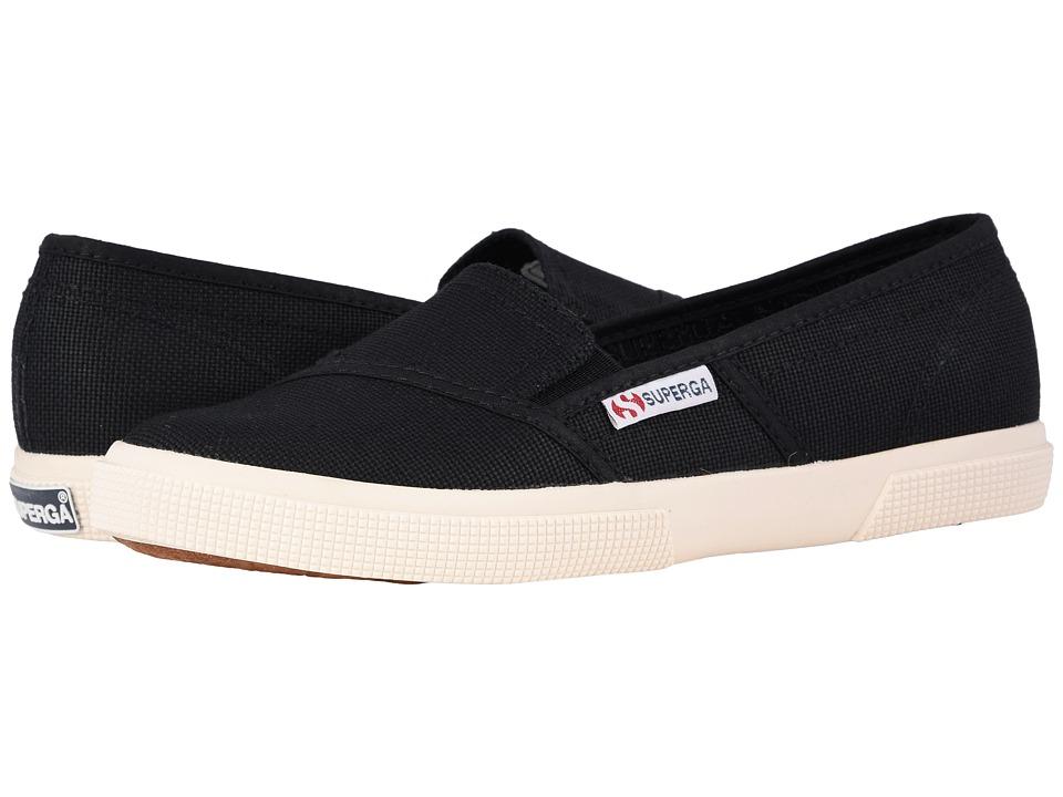 Superga 2210 COTW Slip-On Sneaker (Black) Women's Slip on Shoes