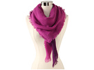 Sperry Top-Sider - Dip Dye Oversized Square Scarf (Purple) - Accessories