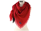 Sperry Top-Sider - Dip Dye Oversized Square Scarf (Red) - Accessories