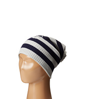 Sperry Top-Sider - Striped Beanie w/ Pom and Lurex Emblem