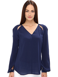 Rachel Roy Cut Out Blouse Navy