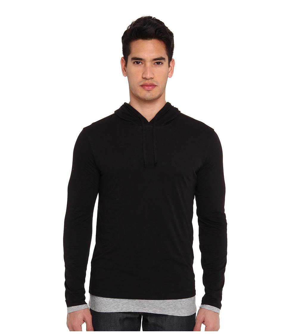 Vince - Double Layer Cotton Hoodie (Black) Men