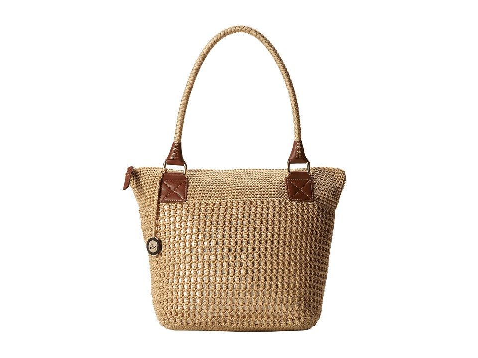 The Sak Cambria Large Tote Bamboo w/ Gold Shoulder Handbags