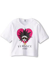 Versace Kids - Girl's T-Shirt With Medusa Logo (Toddler/Little Kids/Big Kids)