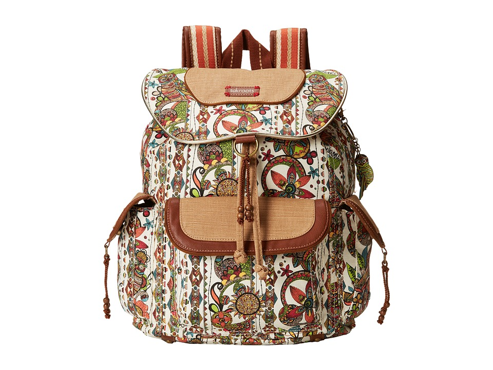 Sakroots - Sakroots Artist Circle Flap Backpack (Natural Spirit Desert) Backpack Bags