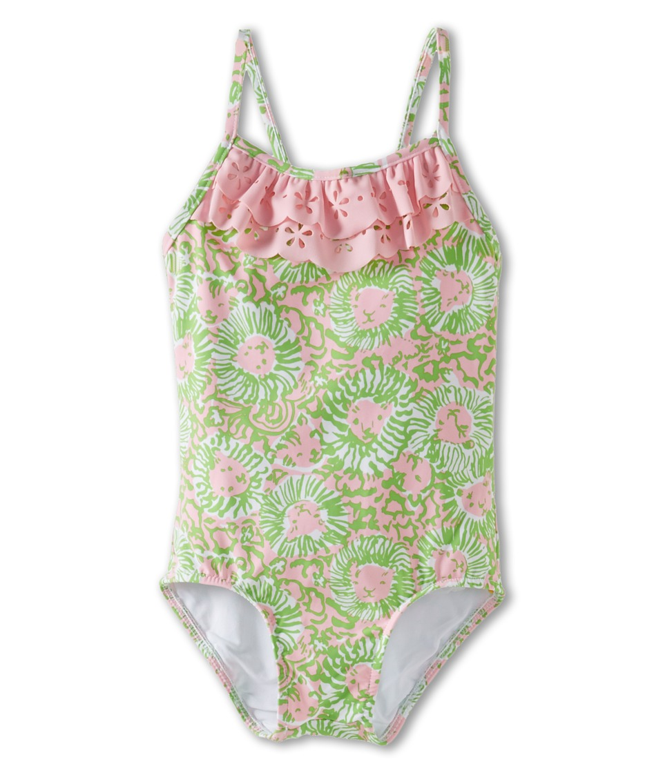Lilly Pulitzer Kids Maile Swimsuit (Toddler/Little Kids/Big Kids) (Cabana Pink Sunnyside) Girl's Swimsuits One Piece<br />