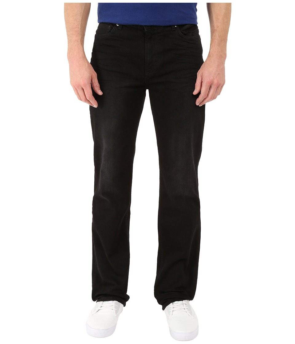 Calvin Klein Jeans Straight Denim in Worn in Black Worn In Black Mens Jeans