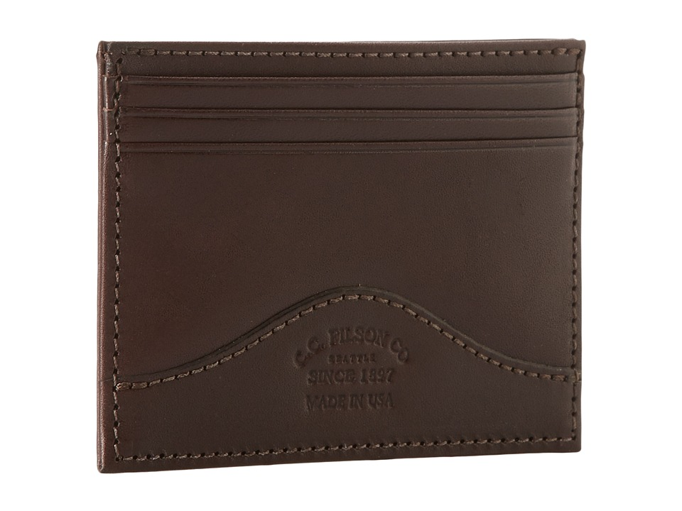 Filson Money Clip with Credit Card Case Brown Credit card Wallet