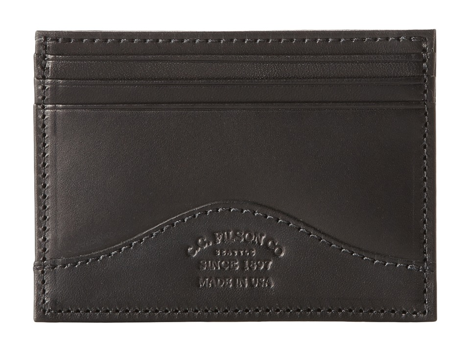Filson Money Clip with Credit Card Case Black Credit card Wallet