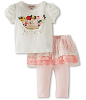 Juicy Couture Kids - 2 Piece S/S Legging Set With Skirt (Infant)