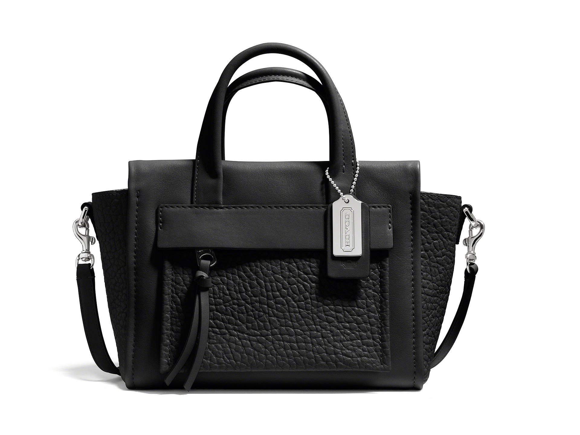 coach bleecker leather mini pocket carryall shipped free