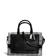 COACH - Bleecker Painted Snake Embossed Leather Pinnacle Carryall