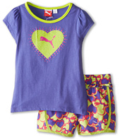 Puma Kids - Printed Hearts Short Set (Little Kids)