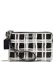 COACH - Bleecker Coated Canvas Small Wristlet