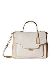 COACH - Madison Spectator Saffiano Sadie Flap Satchel