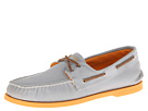 Sperry Top-Sider - A/O 2-Eye Soft Canvas Colored Sole (Grey/Orange) - Footwear