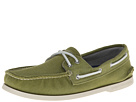 Sperry Top-Sider - A/O 2-Eye Soft Canvas (Olive) - Footwear