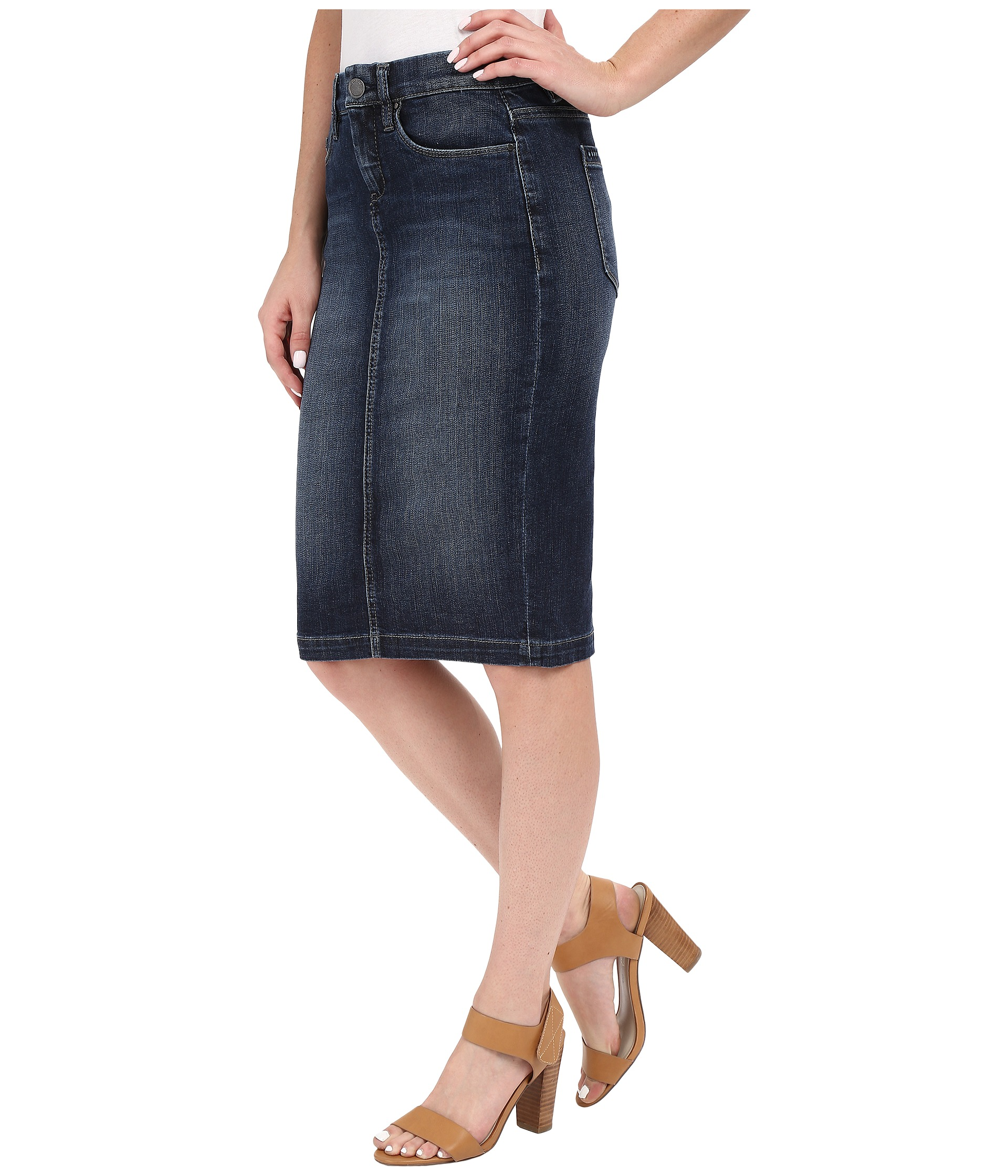 Blank NYC Denim Pencil Skirt in Denim Blue at Zappos.com