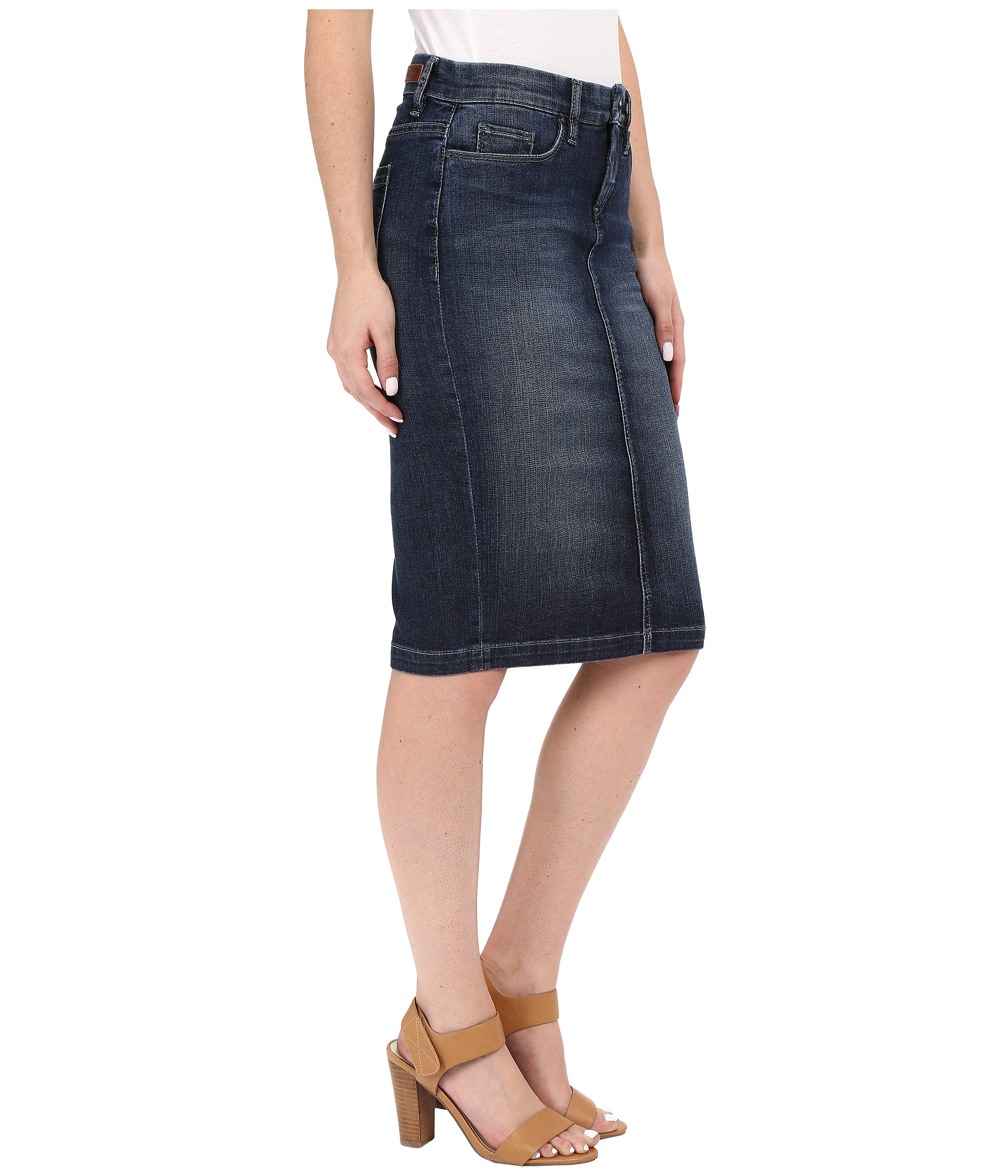 blank nyc denim pencil skirt in denim blue at zappos
