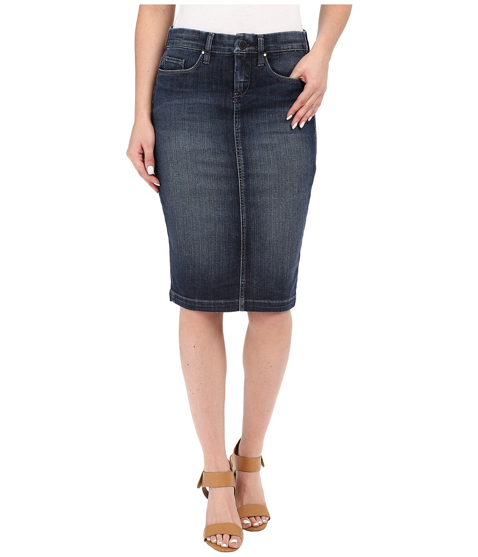 Blank NYC Denim Pencil Skirt in Denim Blue Denim Blue Womens Skirt