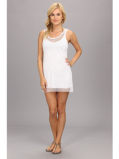 Vitamin A Swimwear Ray 2-in-1 Minidress Cover-up Mod Mesh White