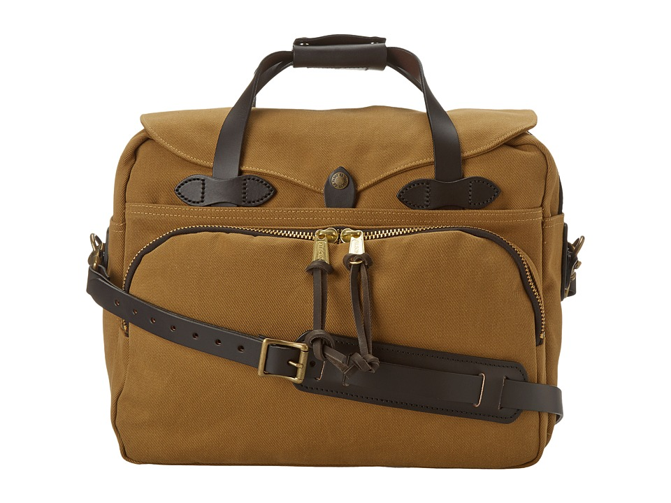 Filson - Padded Laptop Bag/Briefcase (Tan) Briefcase Bags