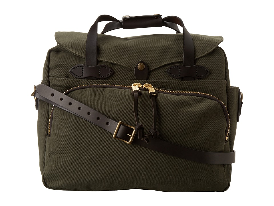 Filson - Padded Laptop Bag/Briefcase (Otter Green) Briefcase Bags