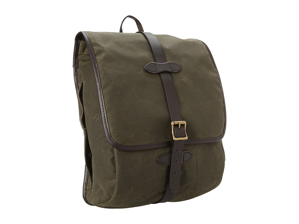 Filson - Tin Cloth Backpack (Otter Green) Backpack Bags