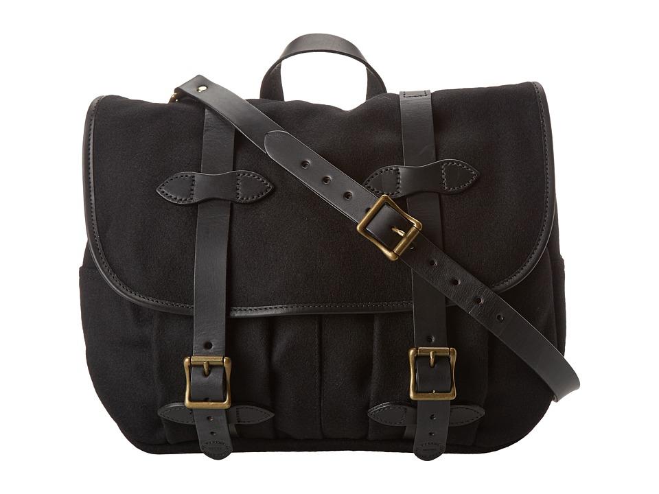 Filson - Wool Medium Field Bag (Black) Bags