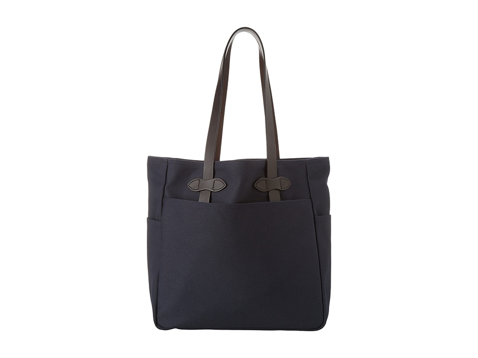 Filson Tote Bag W/Out Zipper Navy Tote Handbags