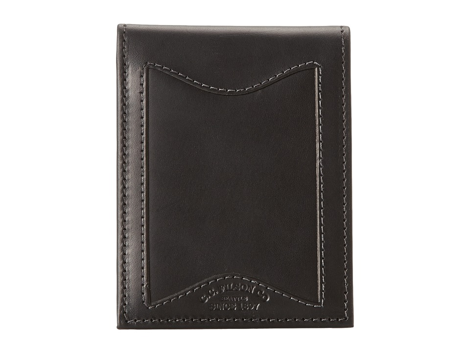 Filson - Leather Outfitter Wallet (Black) Wallet Handbags