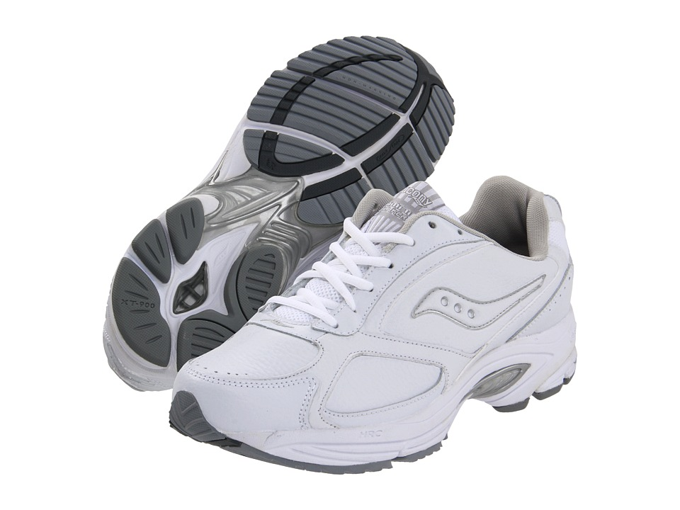 Saucony - Grid(r) Omni Walker (White/Silver) Mens Shoes