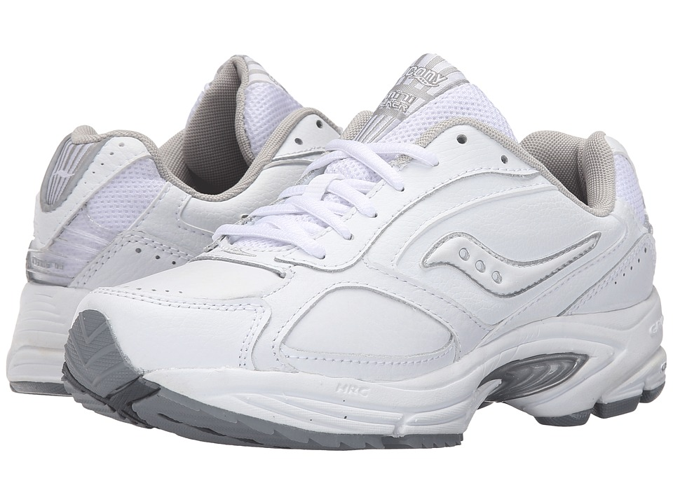 Saucony - Grid(r) Omni Walker (White/Silver) Womens Shoes