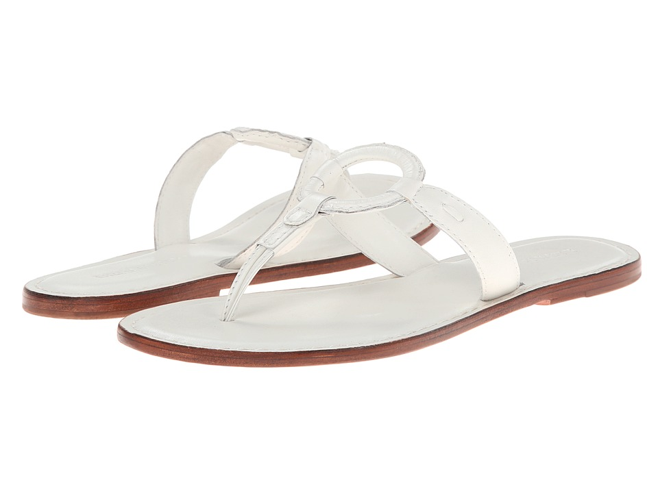 Bernardo Matrix (White Calf/Luggage Calf) Sandals