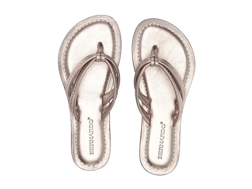 Bernardo Miami (Platinum Calf/Platinum Calf) Sandals