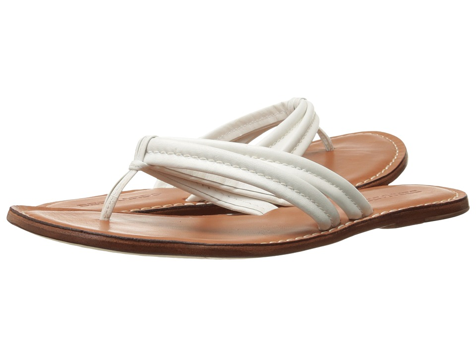 Bernardo Miami Sandal (White Calf/Luggage Calf) Sandals