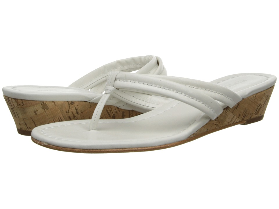 Bernardo Miami Wedge (White Calf/White Calf) Women