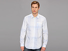 Elie Tahari - Checked Steve Shirt J201X504 (Sky Blue) - Apparel