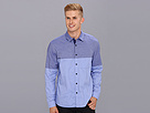 Elie Tahari - Color Blocked Steve Shirt J202P504 (Blue Multi) - Apparel