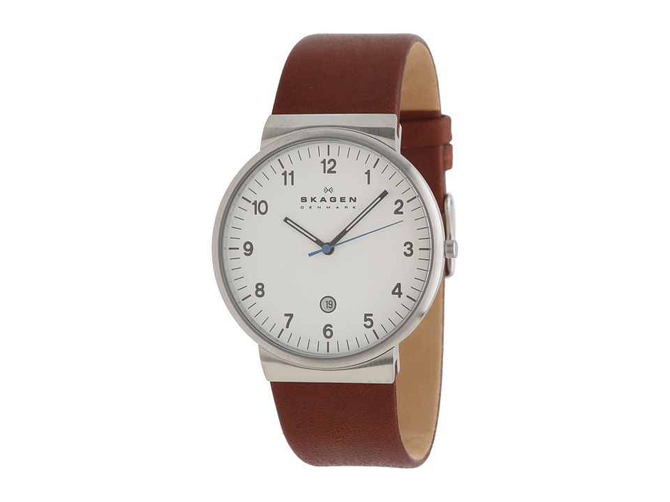 Skagen - Nordstrands (Silver/Brown) Analog Watches