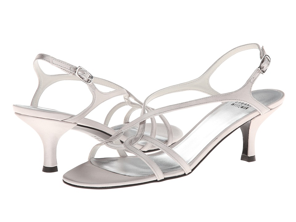 Shop Stuart Weitzman Bridal & Evening Collection online and buy Stuart Weitzman Bridal & Evening Collection Reversal Plata Satin Women's Dress Sandals online