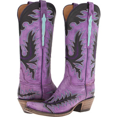 L4729 (Destroyed Purple Goat) Cowboy Boots